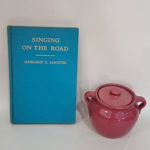 Blue hardcover book singing on the road 1936